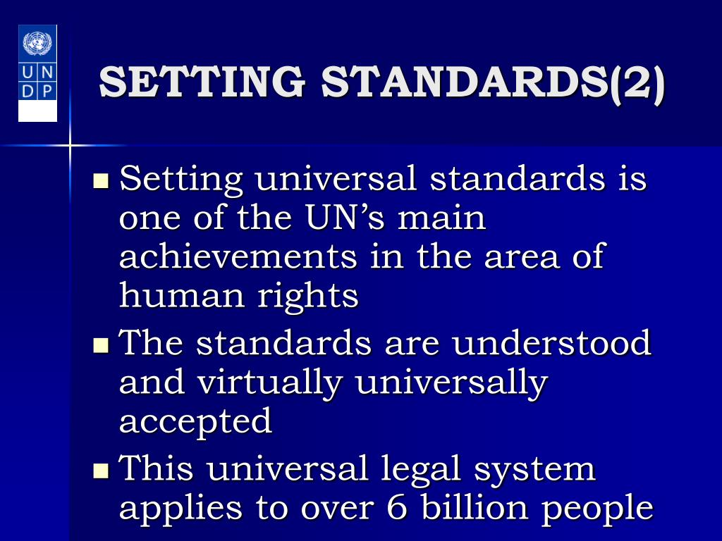 SETTING STANDARDS(2)