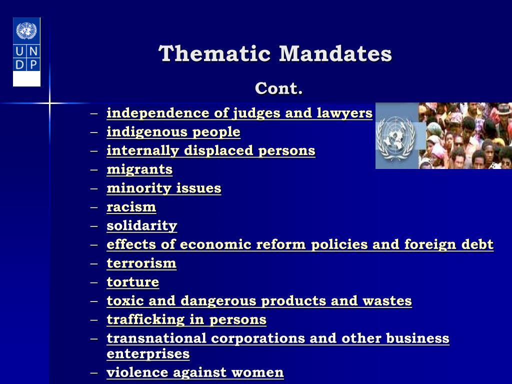 Thematic Mandates