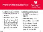 premium reimbursement