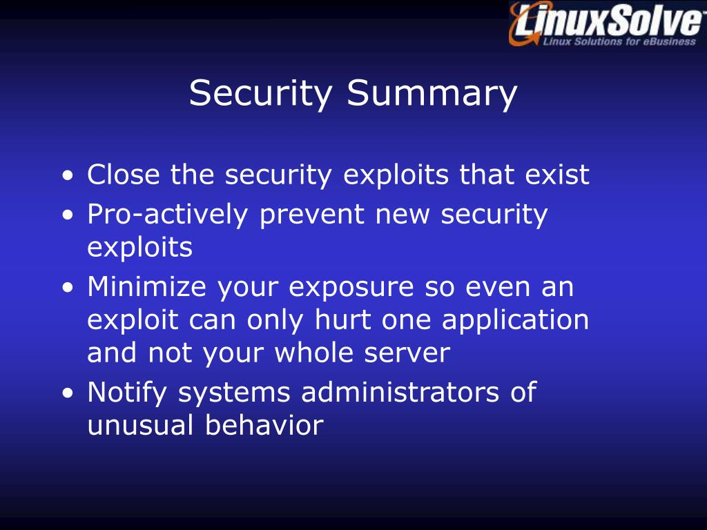 Security Summary