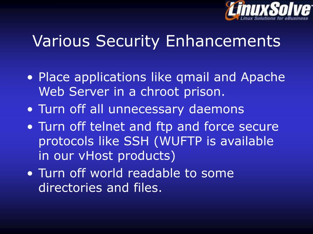 Various Security Enhancements