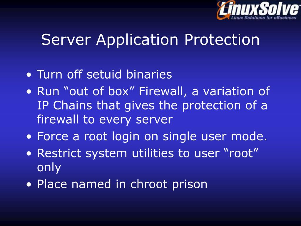 Server Application Protection