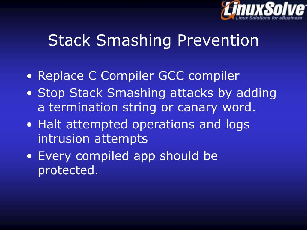Stack Smashing Prevention