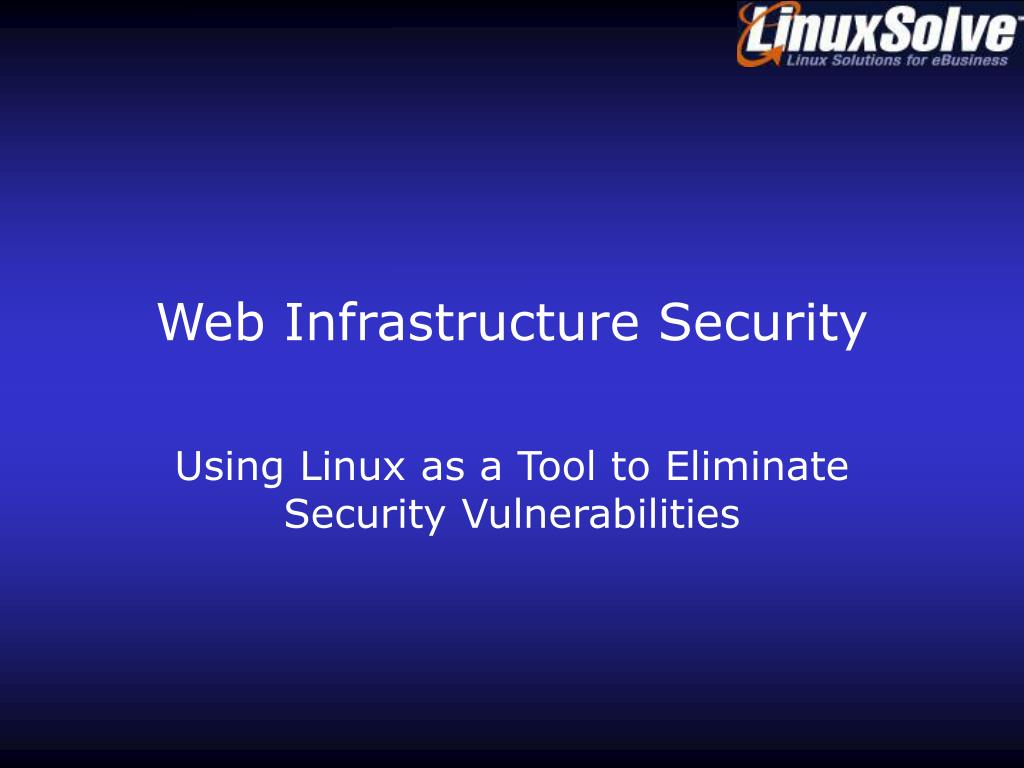 web infrastructure security l.