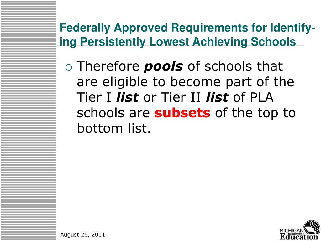 Federally Approved Requirements for Identify-