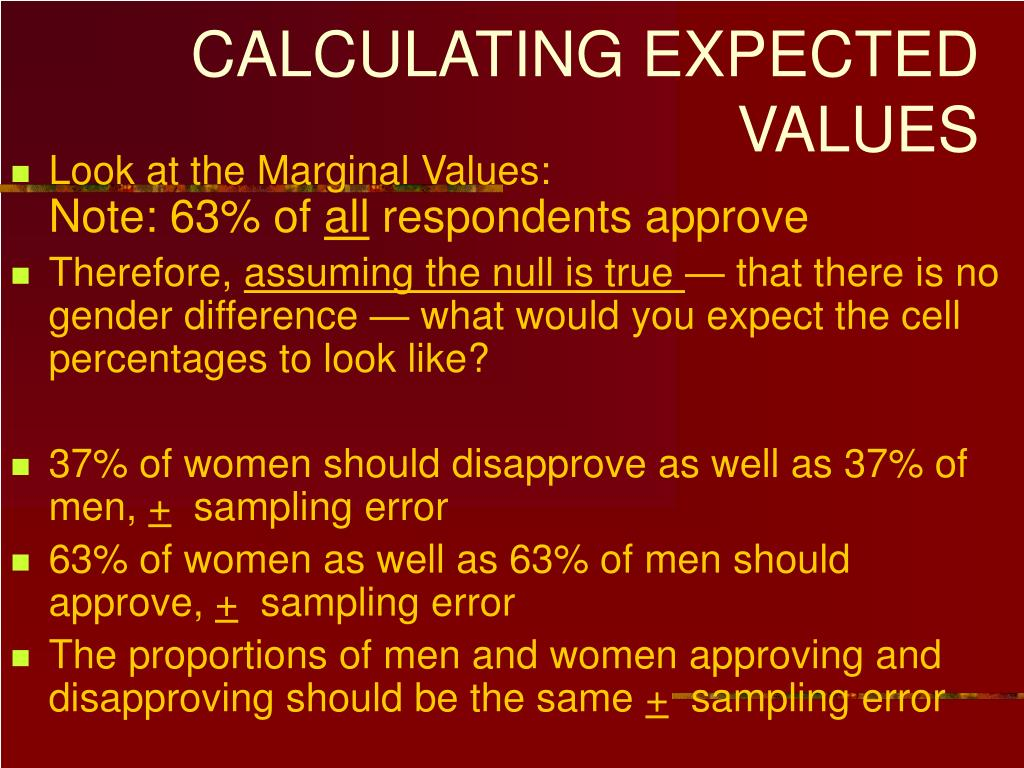 CALCULATING EXPECTED VALUES