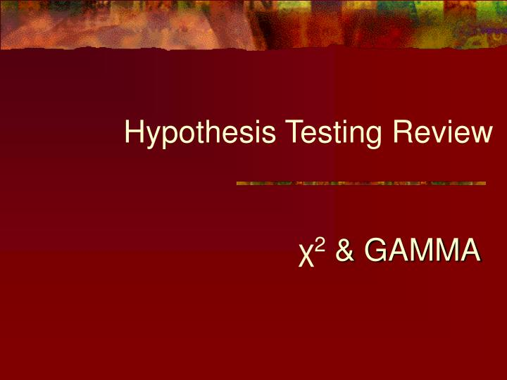 Hypothesis testing review