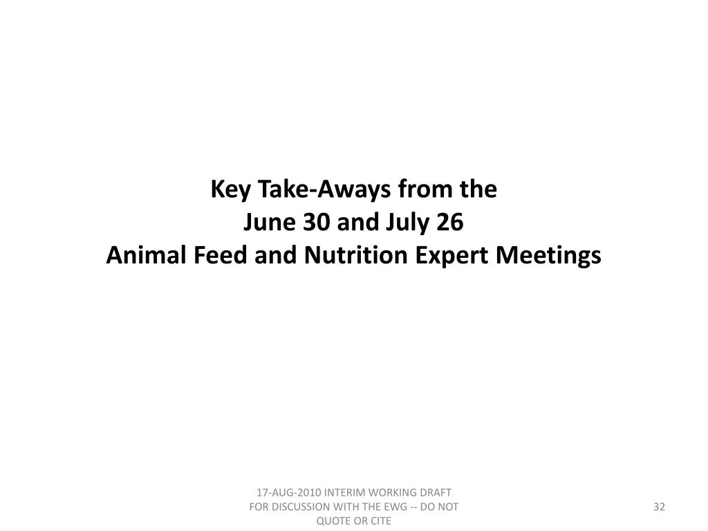 Key Take-Aways from the