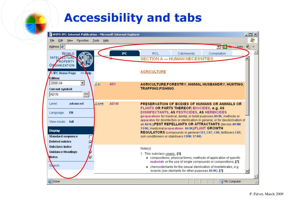Accessibility and tabs