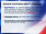general conclusions about campaigns