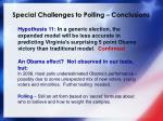 special challenges to polling conclusions