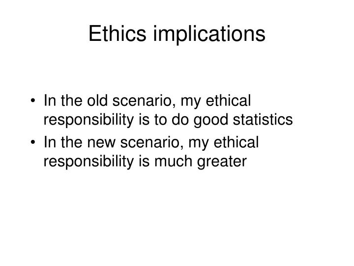 Ethics implications