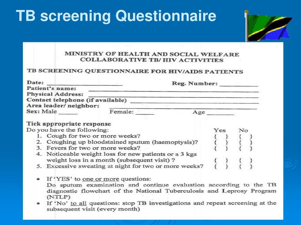 TB screening Questionnaire