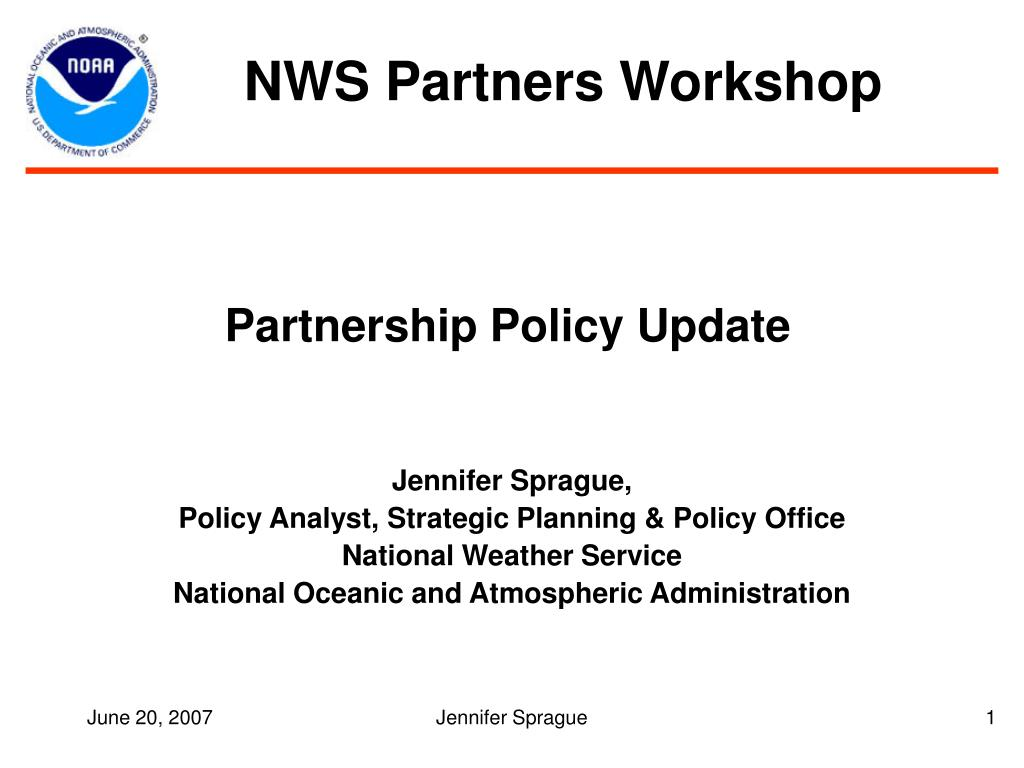 partnership policy update l.
