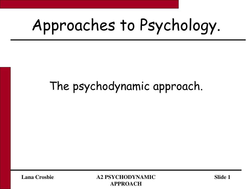 approach to psychology essay