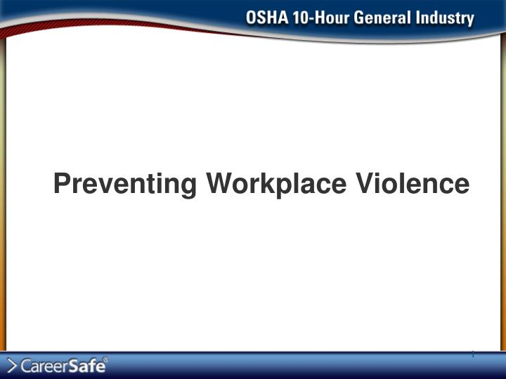preventing workplace violence n.