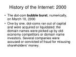 history of the internet 2000