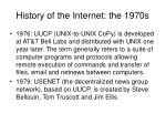 history of the internet the 1970s