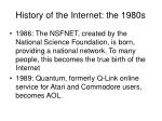 history of the internet the 1980s