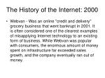 the history of the internet 2000