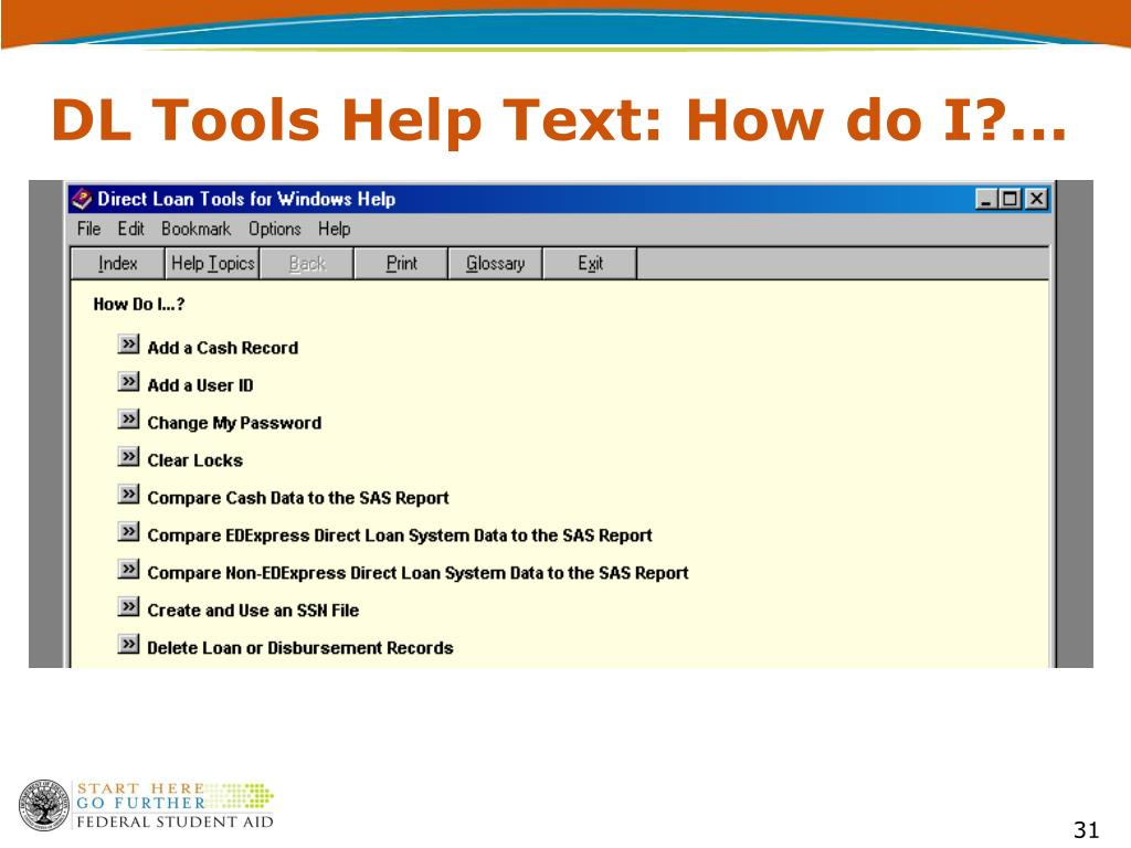 DL Tools Help Text: How do I?...