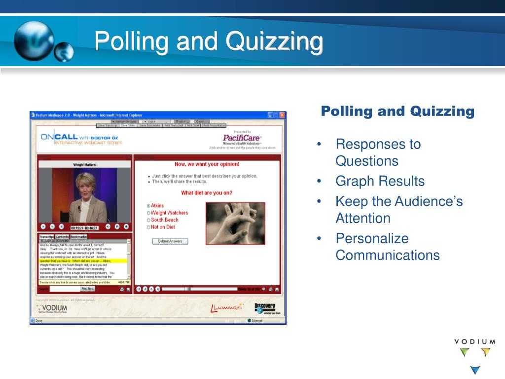 Polling and Quizzing