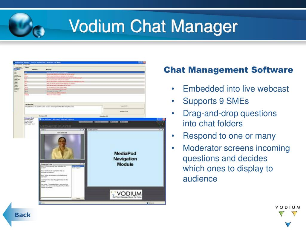 Vodium Chat Manager