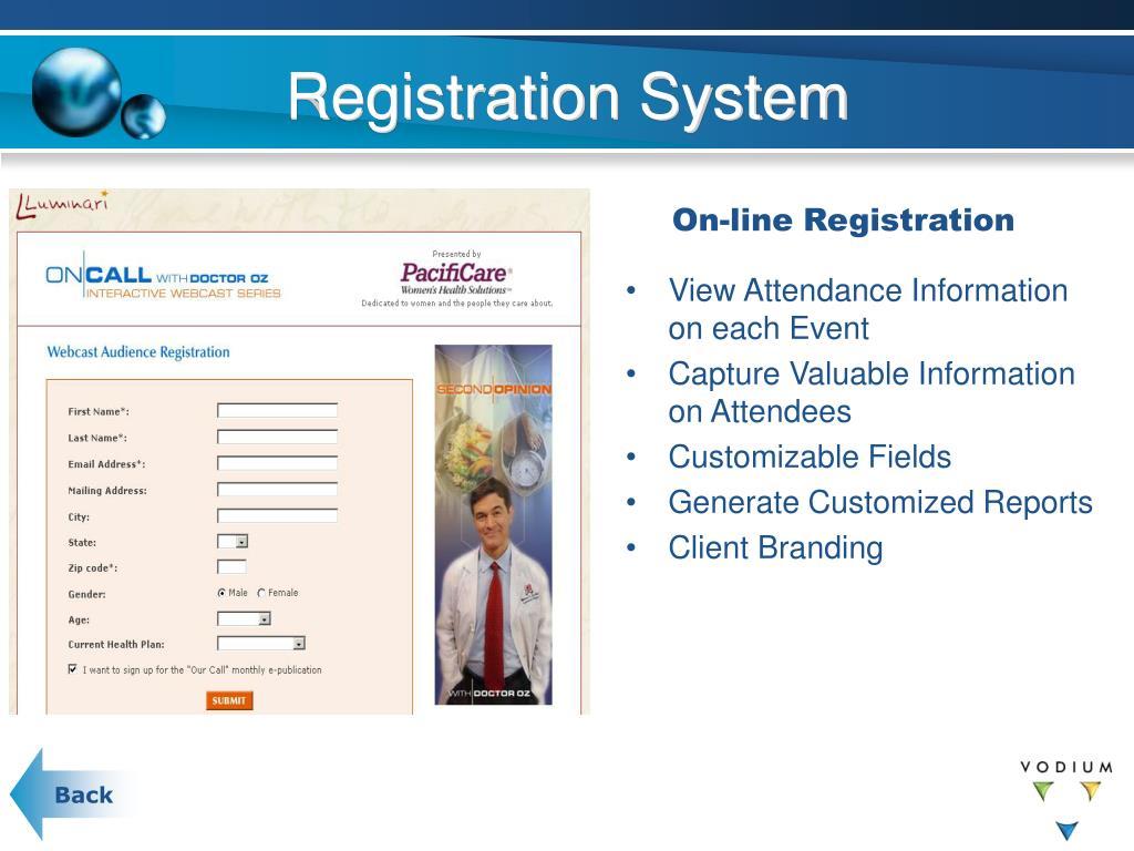 Registration System