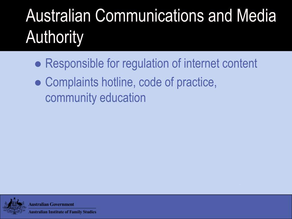 Australian Communications and Media Authority