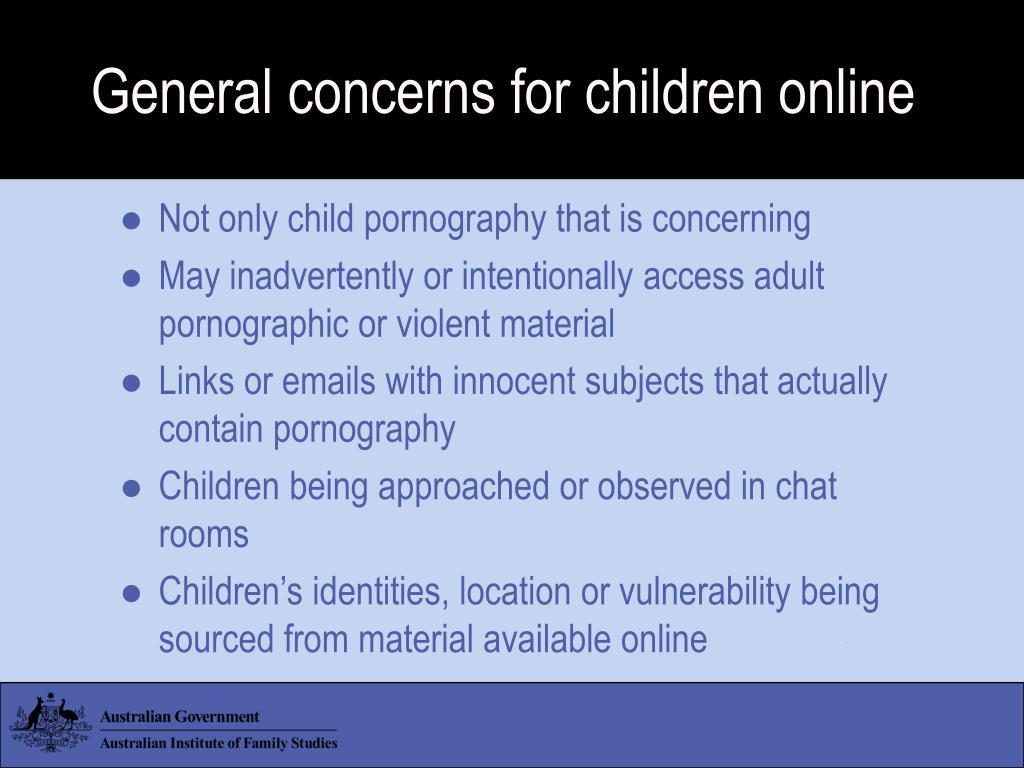 General concerns for children online