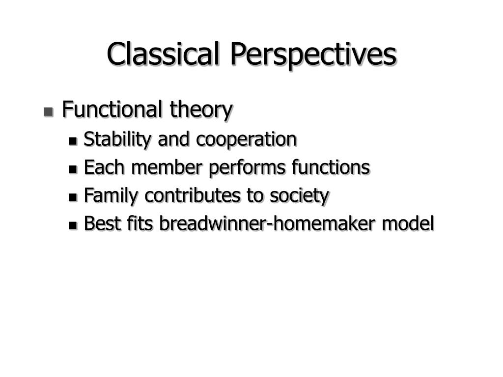Classical Perspectives