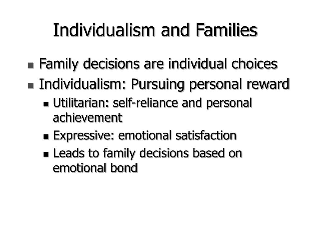 Family decisions are individual choices
