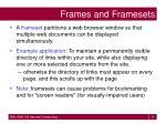 frames and framesets