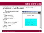 table attributes7