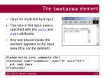 the textarea element