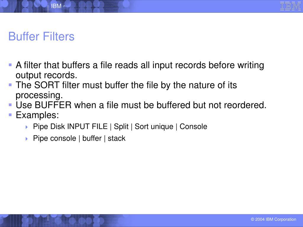 Buffer Filters