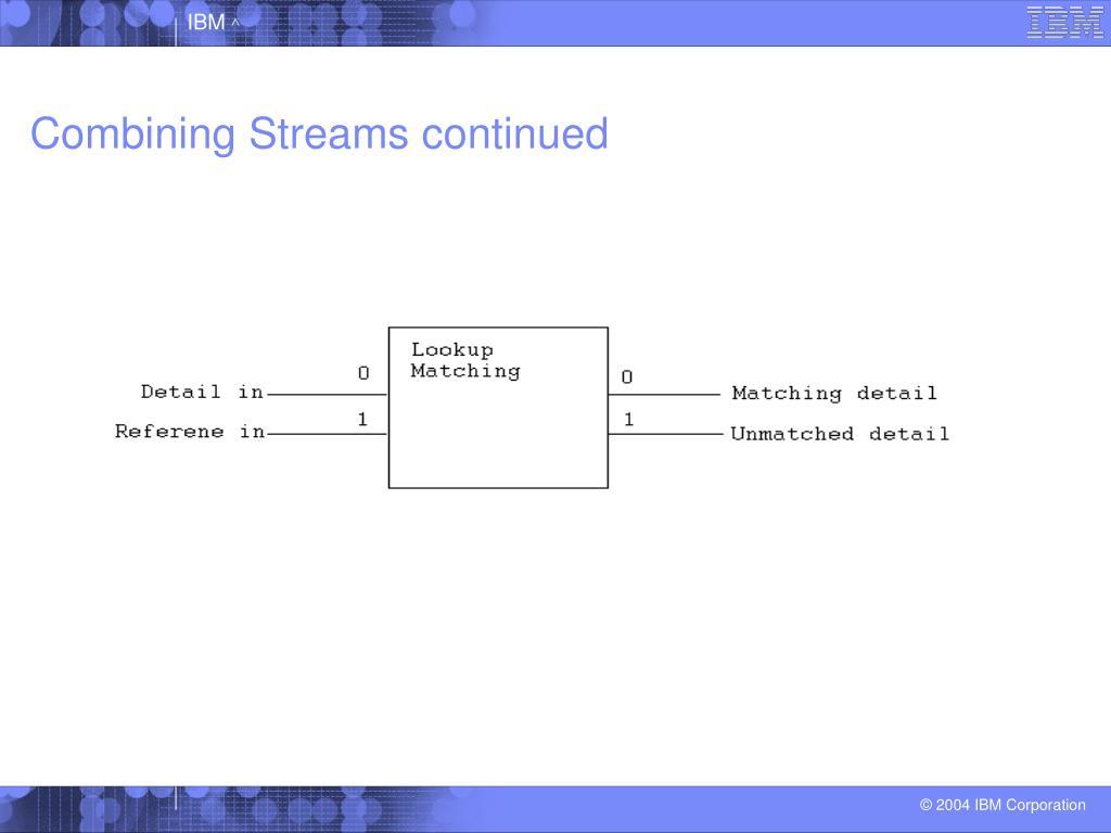 Combining Streams continued