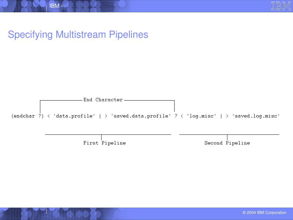 Specifying Multistream Pipelines