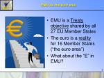 emu vs the euro area