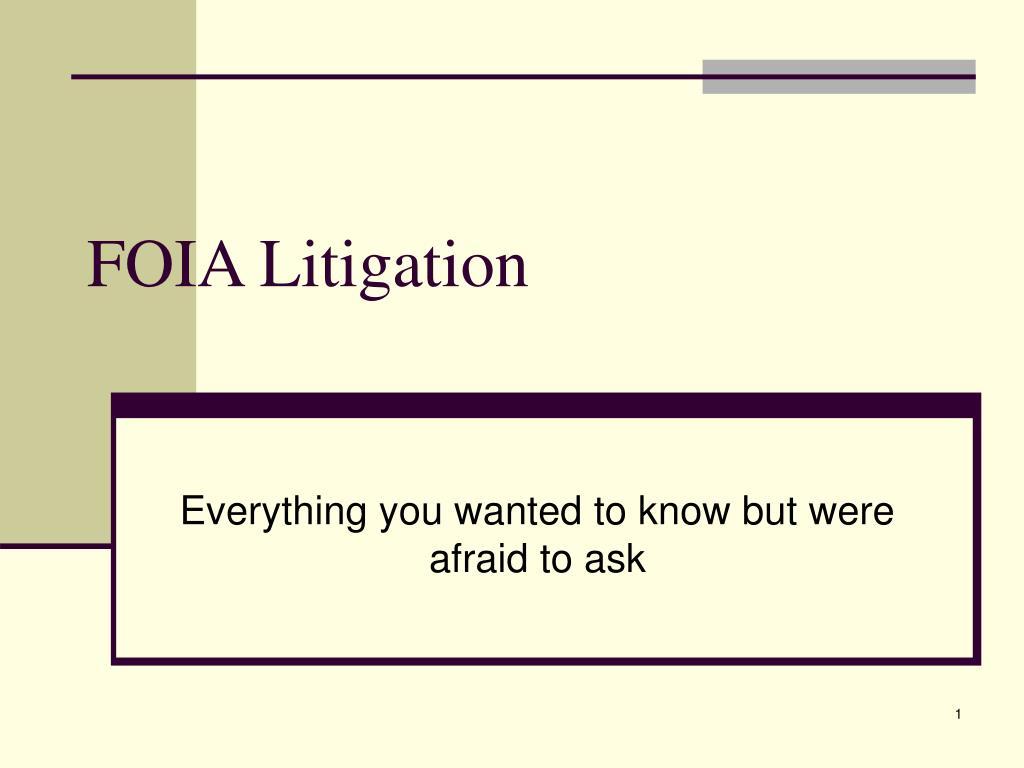 foia litigation l.