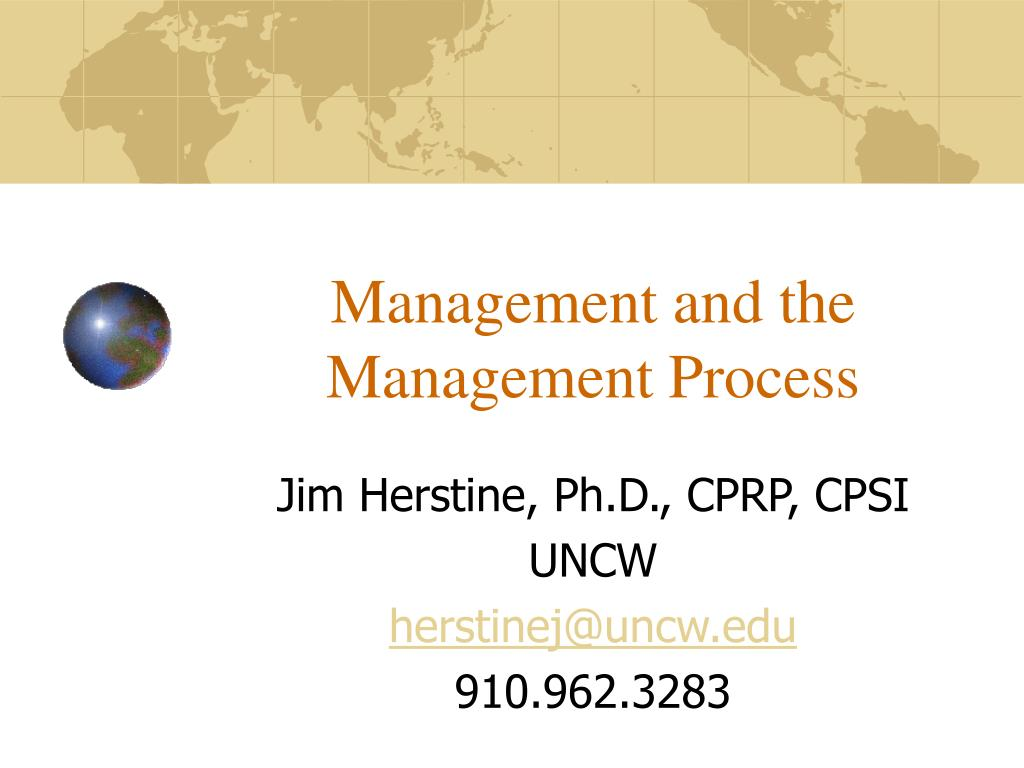 Management and the Management Process