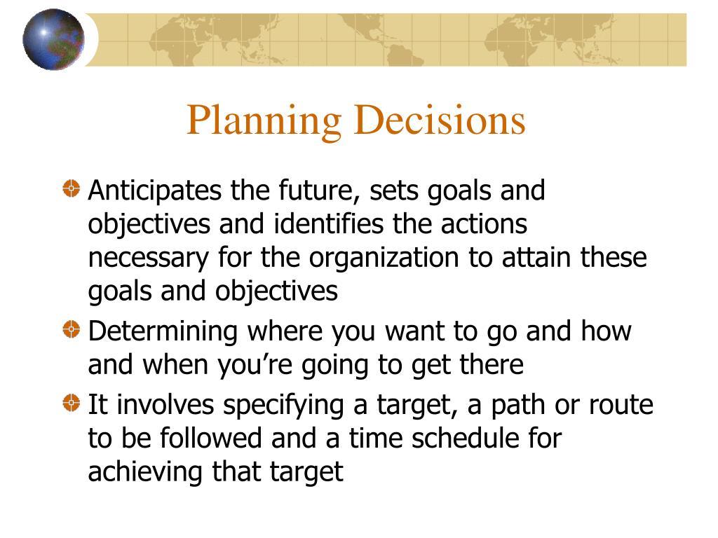 Planning Decisions
