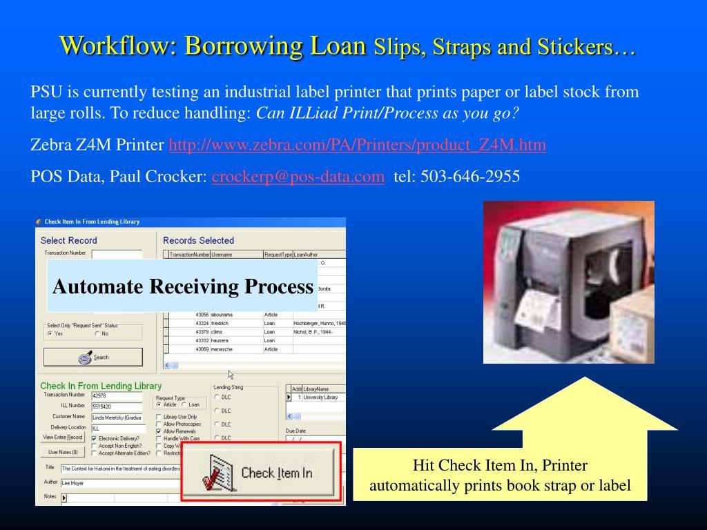 Workflow: Borrowing Loan