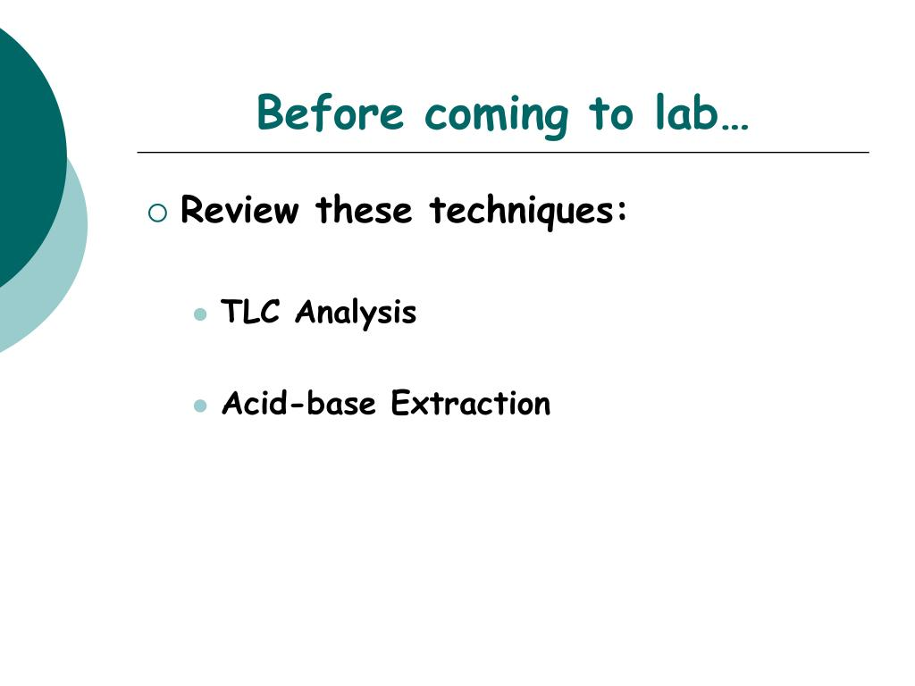 Before coming to lab…