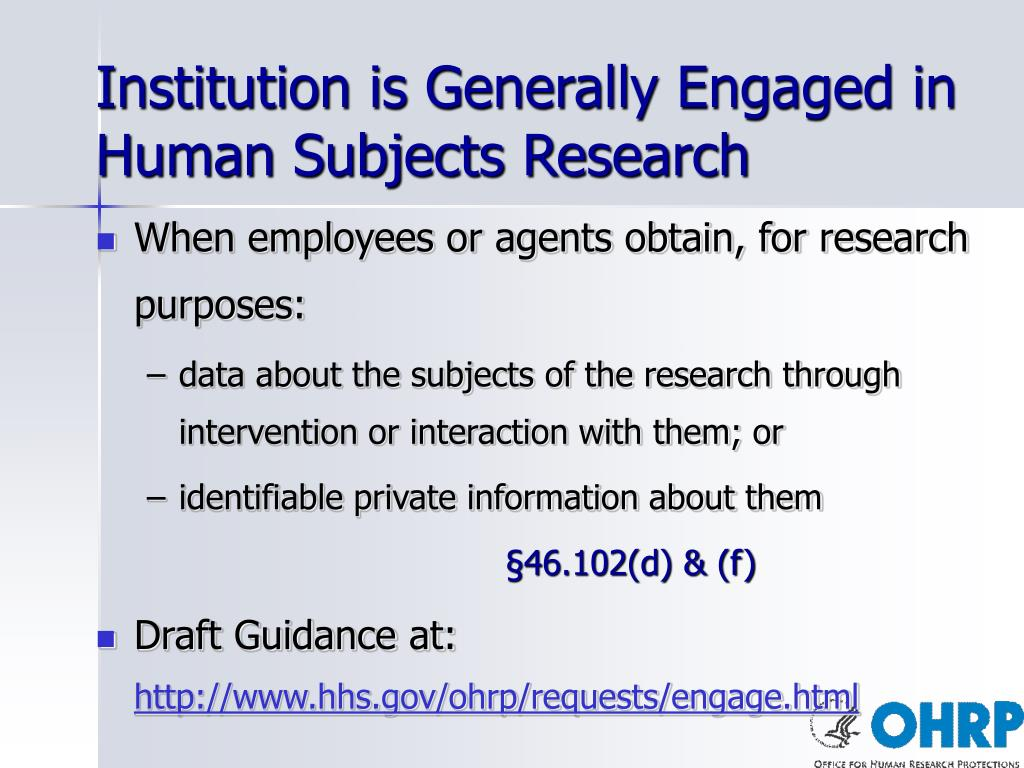 Institution is Generally Engaged in
