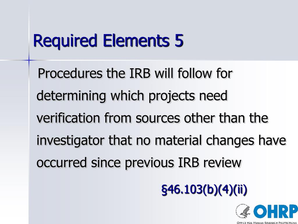 Required Elements 5