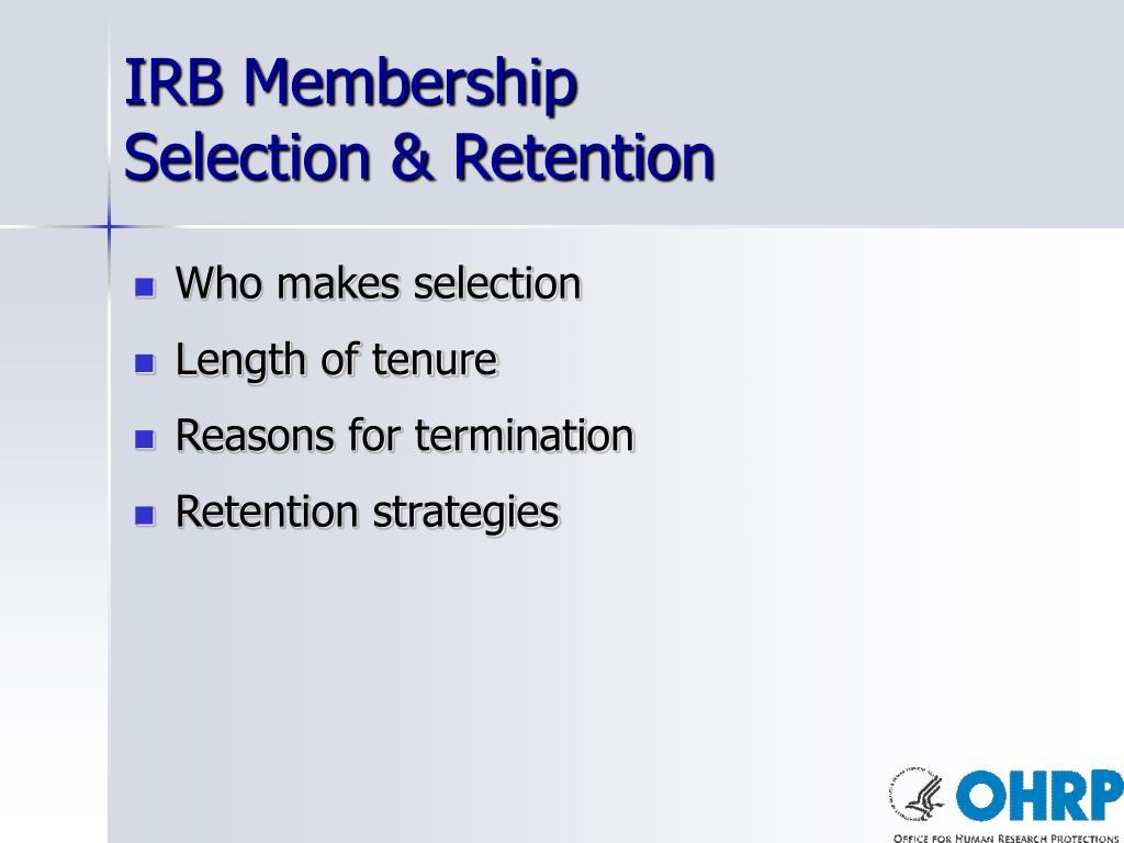 IRB Membership