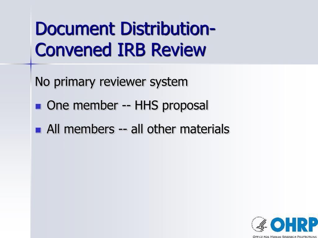Document Distribution-