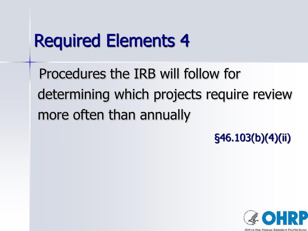 Required Elements 4