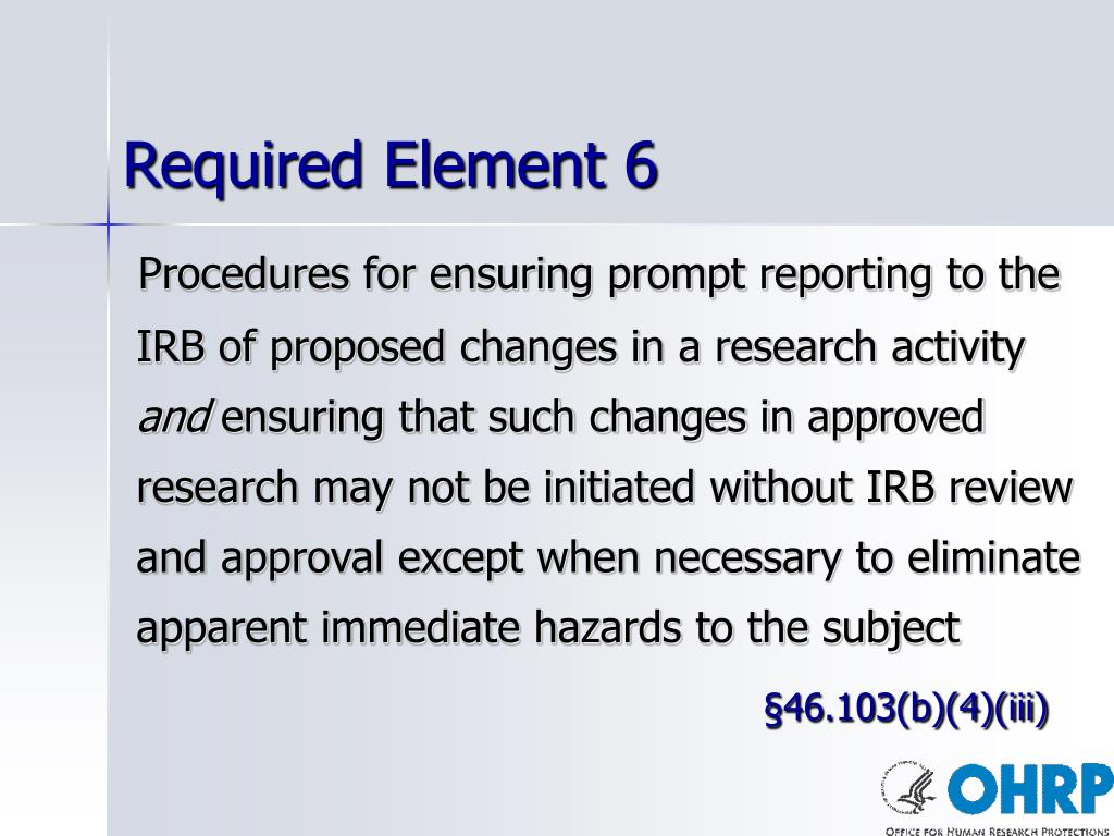 Required Element 6